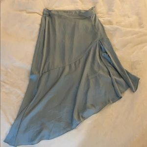 Free people silk midi skirt .